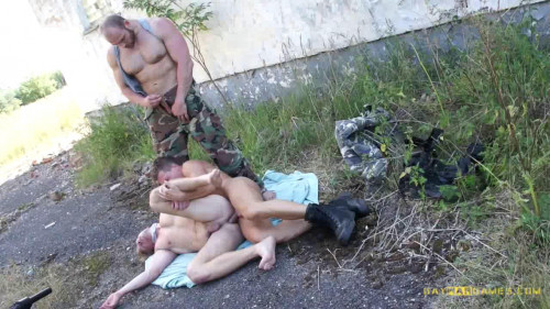 Gay BDSM GayWarGames - Lesko with Jerome and Martin - Big Training - Part 4
