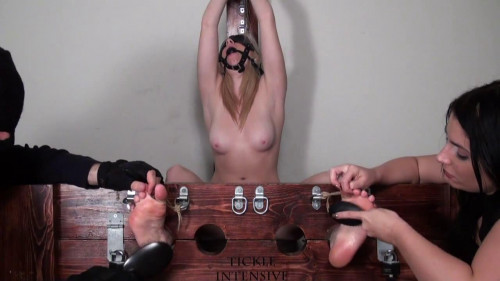BDSM Tickle Intensive - Frantically Ticklish Christina Topless and Punished