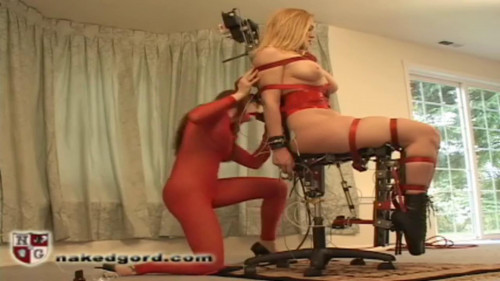 BDSM House of Gord -  Darling on Air Chair Fucking Machine