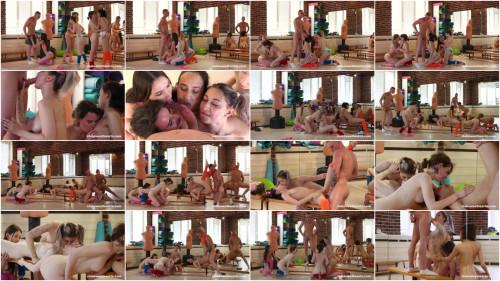 Orgies Amateur Orgy With 5 Girls & Aerobics instructor