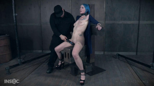 BDSM Lux Lives Enjoys Metal Bondage