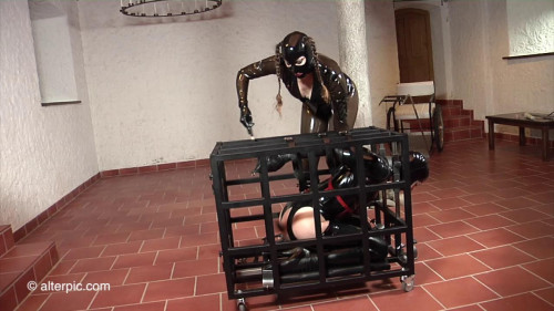 BDSM Latex Charlotte in my Cage - Anna Rose and Charlotte Brooke from CharlotteFetish