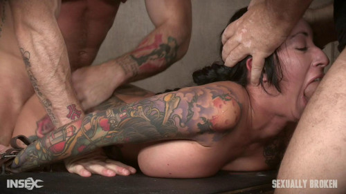 BDSM Lane gets fucked from every direction by massive boners