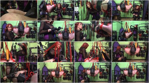 Femdom and Strapon Roped Suspension Cont...part 3