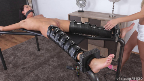 BDSM Naked Gagged and Vibrated