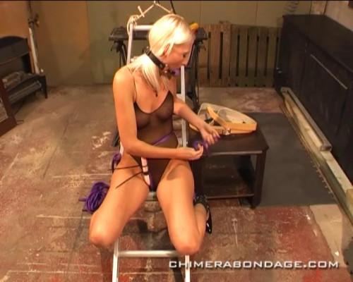 bdsm Blonde slave orgasm