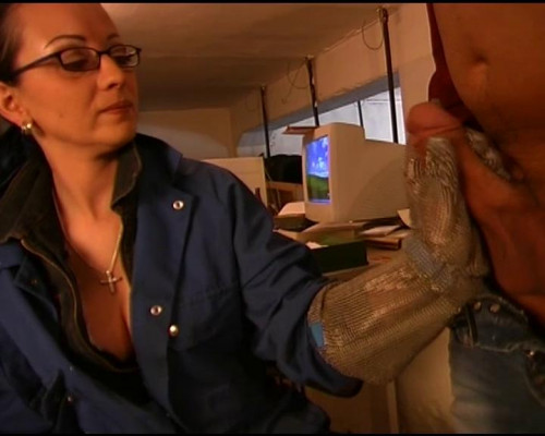 Femdom and Strapon Lets fuck in the office
