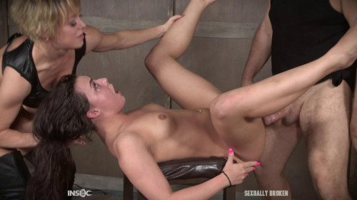 BDSM Gorgeous Slave Destroyed By Hard Dicks