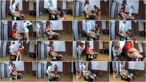 Femdom and Strapon Double Smother Slave Until Out