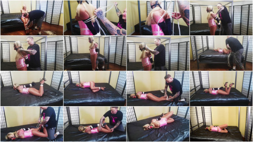 BDSM SBound - Amber Deen.. Tied Up in Pink Satin
