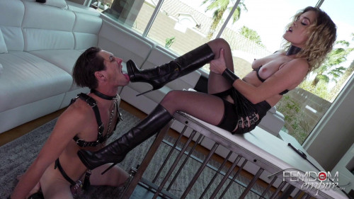 Femdom and Strapon Katie Kush - Taste Of Leather