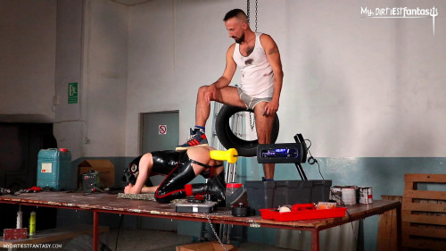 Gay BDSM Fisted Rubber Gimp  Part 2