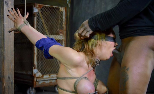 BDSM Big breasted blonde Rain DeGrey brutally deep throated ,HD 720p