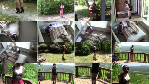 BDSM Latex Elizabeth Andrews : On Latex Assignment In The Mountains