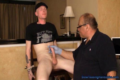 Gay BDSM Slippery Glove Job