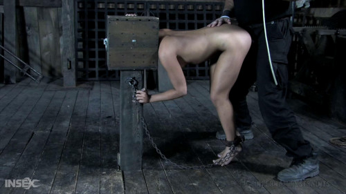 BDSM Tight bondage, spanking and torture for naked sexy bitch part 1