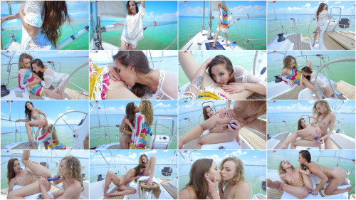 Lesbians Amirah Adara and Angel Emily have a lot of fun together
