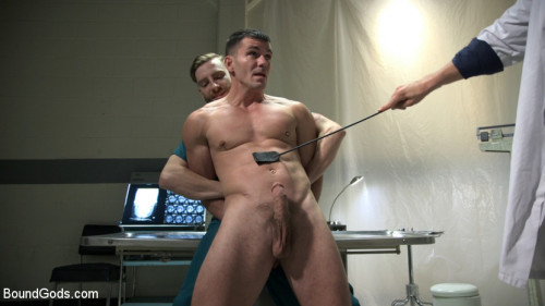 Gay BDSM Patient and Nurse Battered and Ass Fucked by Sadistic Doctor and His 10 inch Cock