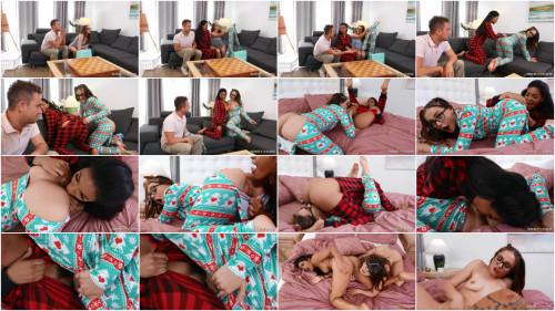 Threesome Aften Opal, Maya Farrell - A Present Of Butt Flap Pajamas: Part 2