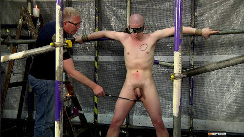 Gay BDSM A Sensitive Cock Drained