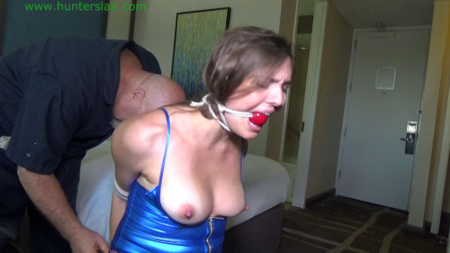 BDSM Strictly bound on her knees in her hotel room
