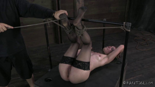 BDSM Calico Lane Uncut: No editing, one take. All the tying onscreen, no breaks for poor Calico
