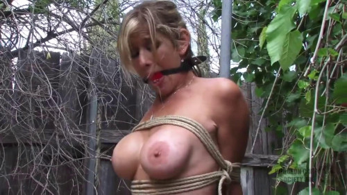 BDSM Tight bondage, strappado and spanking for sexy naked model Full HD 1080p