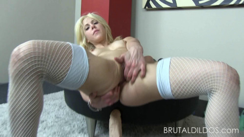 Fisting and Dildo Demolish pussy and asshole