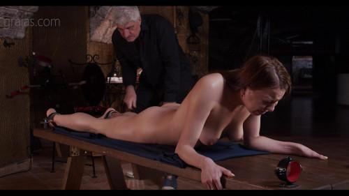 BDSM An elderly goat is pressing me