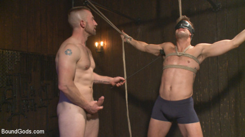 Gay BDSM Tormented Without Mercy - Connor Patricks suffers tight metal bondage