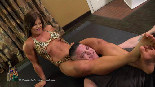 Femdom and Strapon Personal Trainer Trouncing