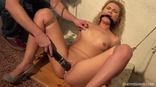 BDSM Bound Blonde Babe