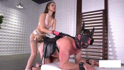 Femdom and Strapon The Pony Ride
