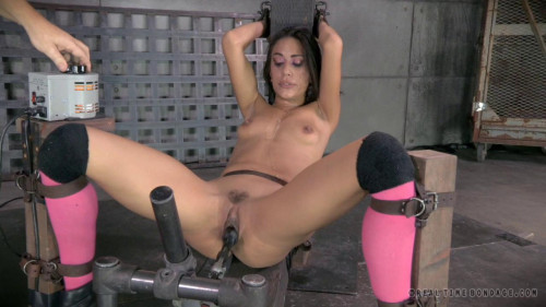 BDSM Hot Hispanic Lyla Storm gags on
