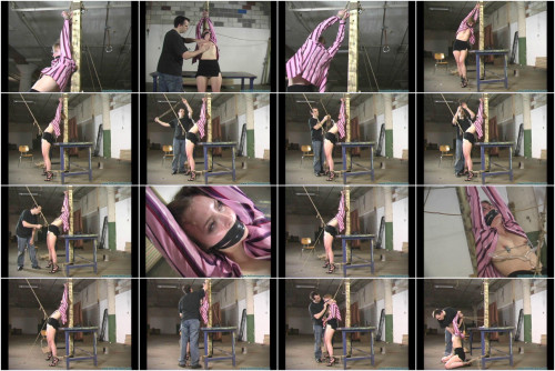 BDSM Eden Legs Spread Spanked and Crotchroped 2 part - Extreme, Bondage, Caning