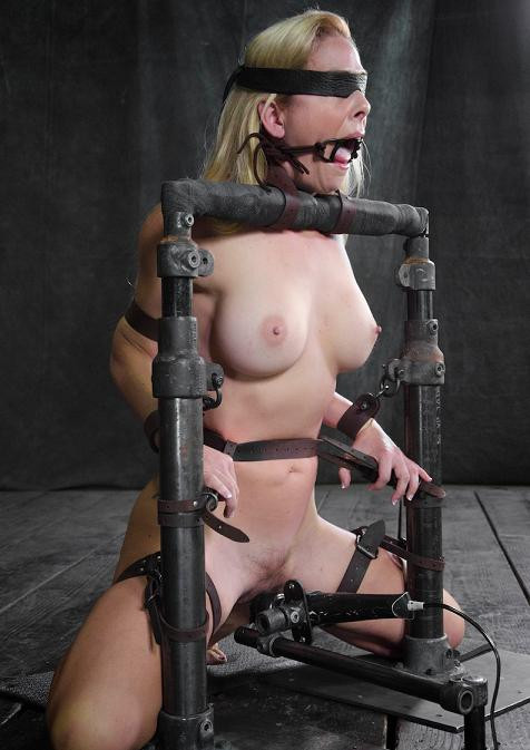BDSM Stunning Cherie DeVille turned into blowjob device in action