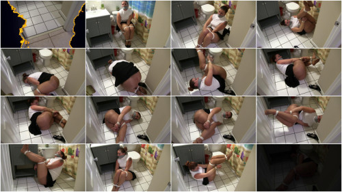 BDSM Damsel Fayth Struggles in Bathroom