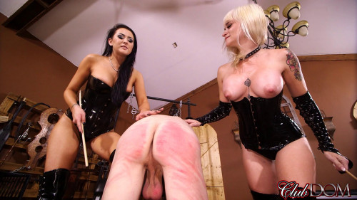 Femdom and Strapon Msr. Dahila Rain and Alexis Grace - Toy for Two Sadists