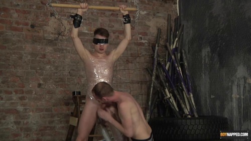 Gay BDSM Fucking A Plastic Wrapped Twink