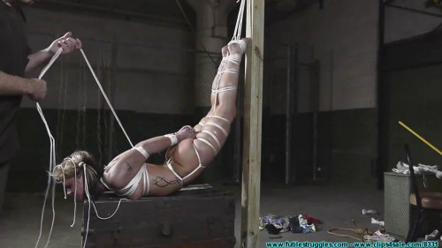 BDSM Bondage, domination and hogtie for very horny blonde part 2 Full HD1080