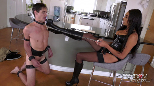 Femdom and Strapon Making of a House Husband
