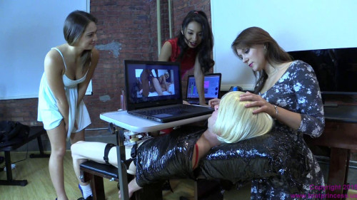 Femdom and Strapon Jennifer, Kendall and Sara Luvv - Rewire sissy to Love Big Black Cock Part 2