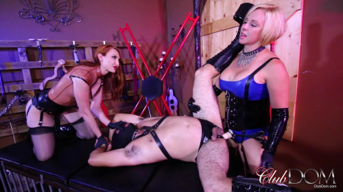 Femdom and Strapon Fucked meat for she-gods