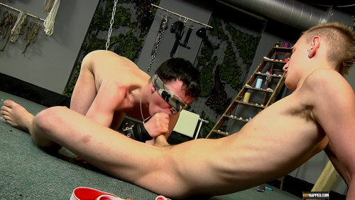 Gay BDSM Brett Chained Up And Abused (Brett Wright, Reece Bentley)