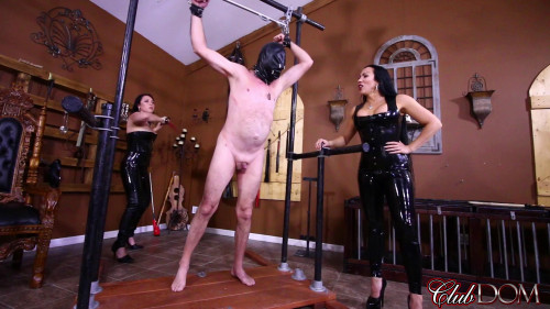 Femdom and Strapon Breaking Slave