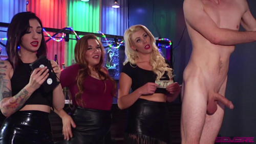 Femdom and Strapon Cybill Elana and Bella Batheroy Strip Club Gangbang vol. 1