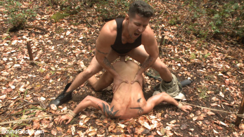 Gay BDSM Mercilessly Fucked in the Woods & Buried Alive