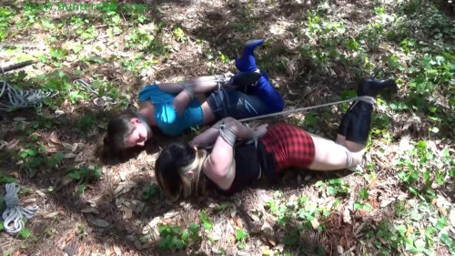 BDSM Hunterslair - Lexi Lane - Forest boundage nymphs