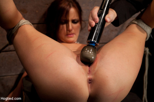 BDSM Cute 20yr old girl next door, bound with legs up and spread, foot torture, caning, finger banged hard!