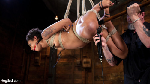 bdsm Skin Diamond is Tormented in Brutal Bondage and Made to Cum